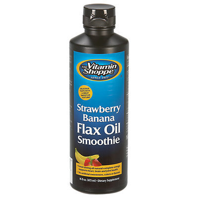 Vitamin Shoppe Strawberry Banana Flax Oil Smoothie
