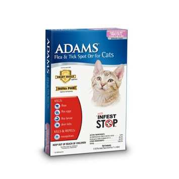 Adams Flea and Tick Spot On for Cats and Kittens over 2.5 lbs but under 5 lbs