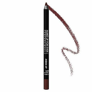 MAKE UP FOR EVER Aqua Lip Waterproof Lipliner Pencil Chocolate Brown 6C 0.04 oz