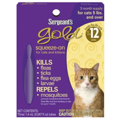 Sergeant's Gold Cat Squeeze-On Pest Control - Cats 5 lbs. and Over