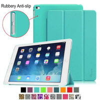 Fintie iPad Air 2 Case - Super Slim Case with Rubberized Anti-Slip Back Cover With Auto Wake / Sleep, Blue