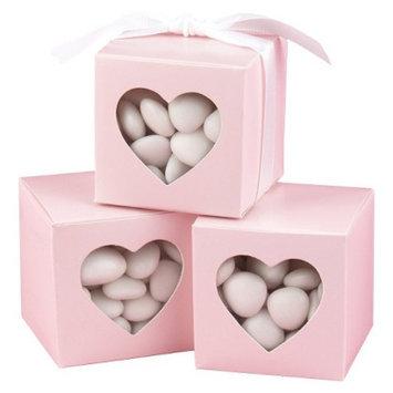 Hortense B. Hewitt Blush Heart Window Favor Boxes - 25ct