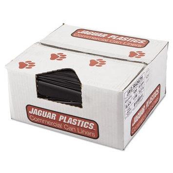 Jaguar Plastics Repro Low-Density Can Liners, 43 x 47, Black, 100/Carton