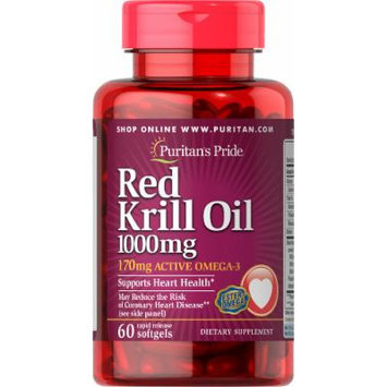 Puritan's Pride Red Krill Oil 1000 mg (170 mg Active Omega-3)-60 Softgels