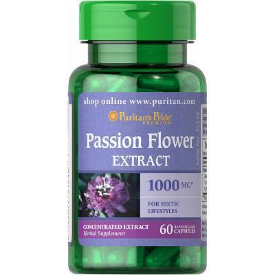 Puritan's Pride Passion Flower 1000 mg-60 Capsules
