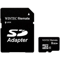 Wintec Filemate 8GB Micro SDHC Memory Card with SD Adapter