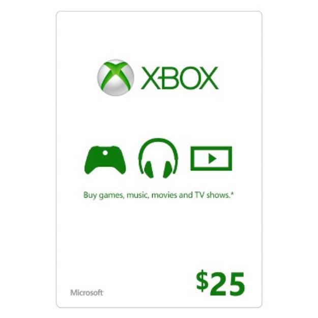 Microsoft Xbox Live Gift Card $25