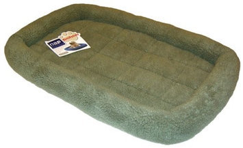 Furhaven Pet Products NAP Berber Bolster Pet Bed, Sage, 24-Inch by 36-Inch