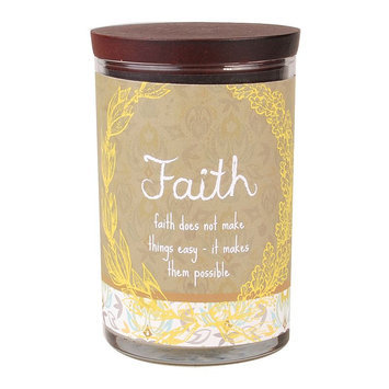 WoodWick 9.5-oz. Inspirational Faith Jar Candle (Brown)