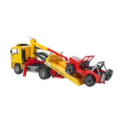 Caterpillar Bruder Man Tow Truck with Cross Country Vehicle