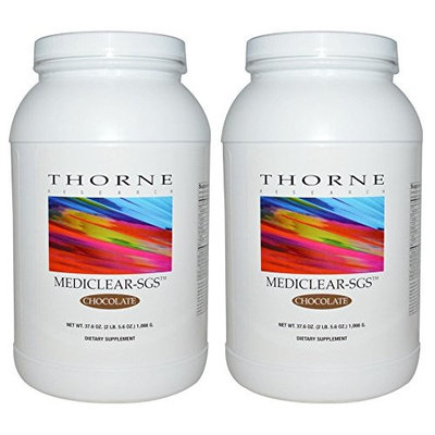 MediClear-SGS Chocolate 4 lb 11.2 oz. 2,132 grams (Two Pack) by Thorne Research