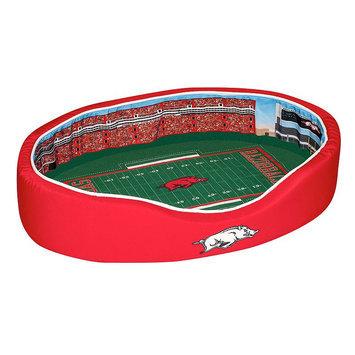 NCAA Basketball Dog Bed, Arkansas, Small - 18 x 22 (1-30 lbs)