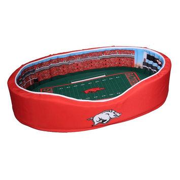 Ncaa Arkansas Razorbacks Stadium Pet Bed - M (Ark Team)