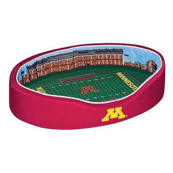 NCAA Football Dog Bed, Minnesota, Small - 18 x 22 (1-30 lbs)