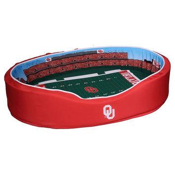 NCAA Football Dog Bed, Oklahoma, Medium - 20 x 30 (31-60 lbs)
