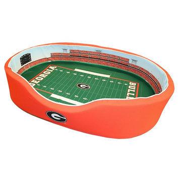 NCAA Football Dog Bed, Georgia, Medium - 20 x 30 (31-60 lbs)