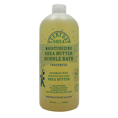 Everyday Shea - Moisturizing Shea Butter Bubble Bath Unscented - 32 oz.