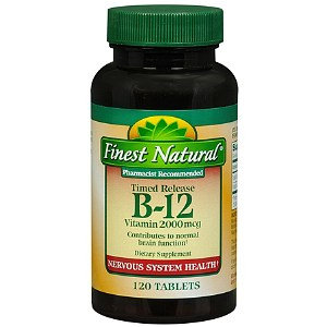 Finest Natural Vitamin B-12 2000mcg Timed Release Tablets