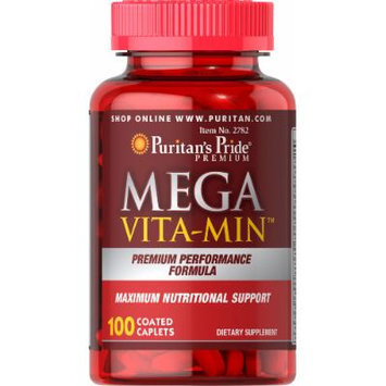 Puritan's Pride Mega Vita-Min Multivitamin-100 Caplets