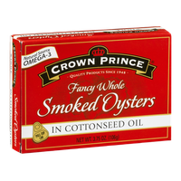 Crown Prince Fancy Whole Smoked Oysters In Cottonseed Oil