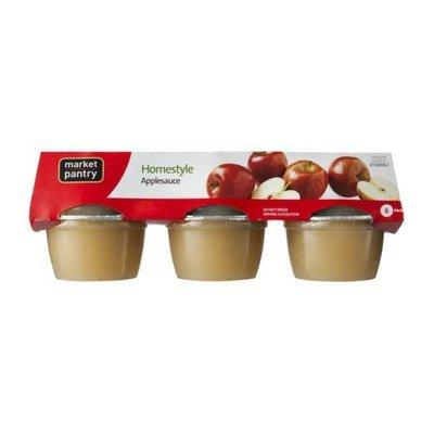 Market Pantry Applesauce Homestyle 24-oz. 6-pk.