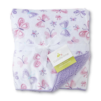 Cuddletime Infant Girl's Plush Blanket Butterflies - TRIBORO QUILT MFG. CORP.
