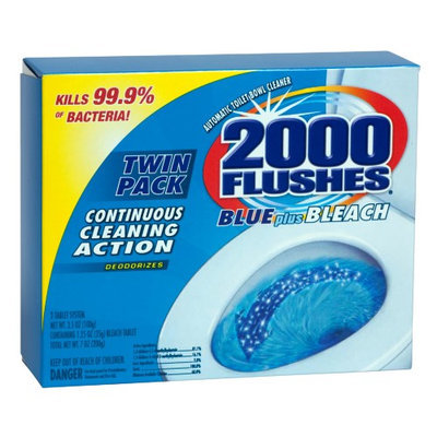 2000 Flushes 2-Count Blue-Plus-Bleach Automatic Bowl Cleaner (Case of 6) 20808