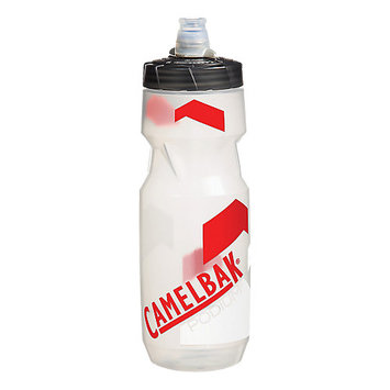 CamelBak Podium Water Bottle - 24oz Clear/Racing Red, 24 oz