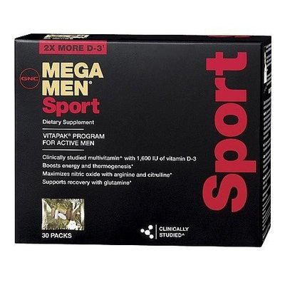 GNC Mega Men Sport Capsules, 30 Count