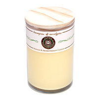 LEMONGRASS & EUCALYPTUS MASSAGE & AROMATHERAPY SOY CANDLE 12 OZ TUMBLER. A SOOTHING & UPLIFTING BLEND WITH CITRINE GEMSTONE. BURNS APPROX. 30+ HOURS for UNISEX