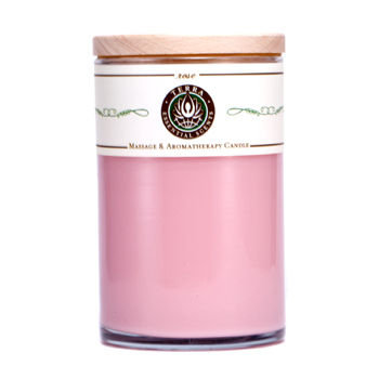 ROSE MASSAGE & AROMATHERAPY SOY CANDLE 12 OZ TUMBLER. AN UPLIFTING & CALMING BLEND WITH ROSE QUARTZ GEMSTONE. BURNS APPROX. 30+ HOURS for UNISEX