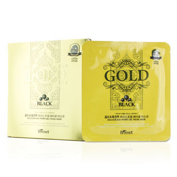 Freeset Gold & Black Hydro Gel Facial Mask 5x30g/1oz