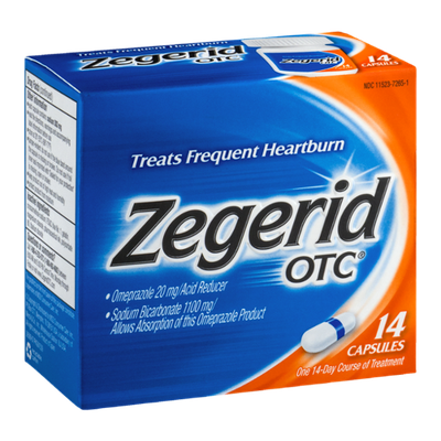 Zegerid OTC Heartburn Acid Reducer Capsules - 14 CT