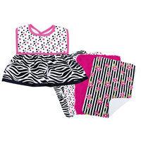 Trend Lab Zahara Zebra Dress Up Bib and Burp Cloth Set