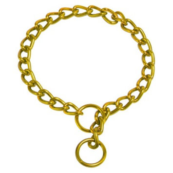 Platinum Pets Coated Chain Training Collar - Gold (24