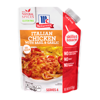 McCormick® Italian Chicken with Basil & Garlic Skillet Sauce