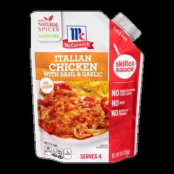 McCormick® Italian Chicken with Basil & Garlic Skillet Sauce