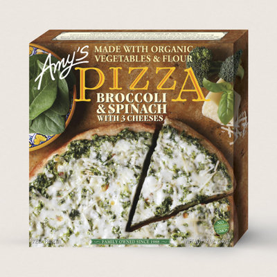 Amy's Kitchen Broccoli & Spinach With 3 Cheeses Pizza