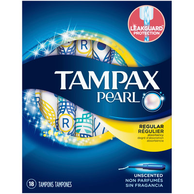 Tampax Pearl Regular Plastic Tampons, Unscented