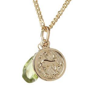 a.v. max Taurus Zodiac Charm Necklace