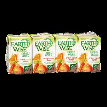 Earth Wise Entirely Natural Orange Carrot Mango Fruit Juice - 4 PK