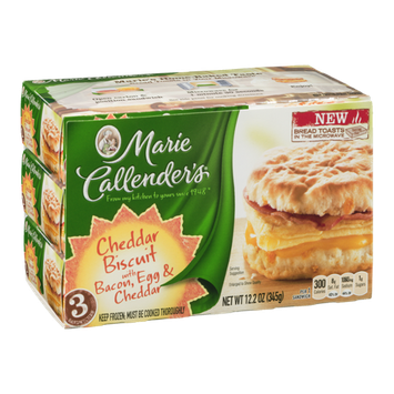 Marie Callender's Cheddar Biscuit with Bacon, Egg & Cheddar - 3 CT