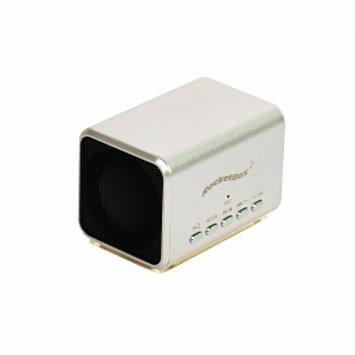 RocketBox Rocketbox Mini Bluetooth Stereo Speaker, Titanium, 1 ea