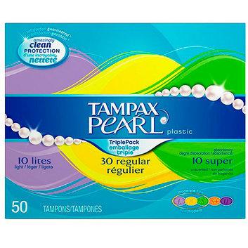 Tampax Pearl Plastic Triple Pack