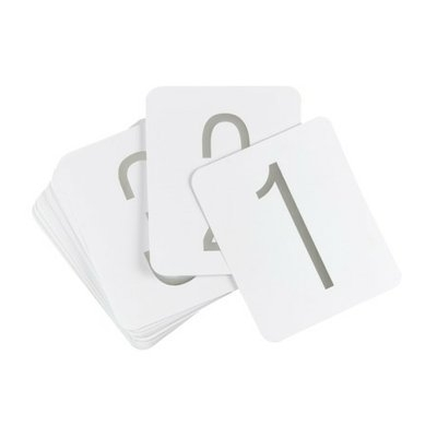 Hortense B. Hewitt Silver Foil Table Numbers - 40ct