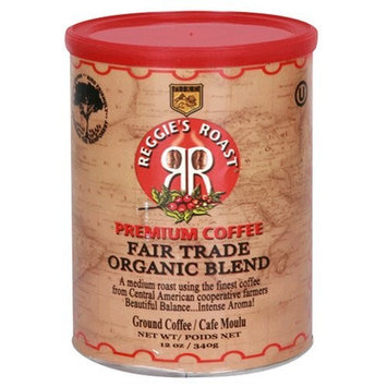 Reggies Roast Reggie's Roast Organic, Fair Trade Ground Coffee, 12-Ounce Cans (Pack of 3)