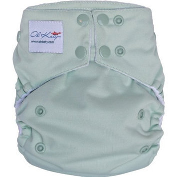 Oh Katy One Size Pocket Diaper, Sage (Discontinued by Manufacturer)
