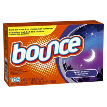 Bounce Sweet Dreams Scent Fabric Softener Sheets 105 Count