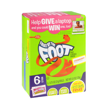 Betty Crocker Strawberry Fruit By The Foot Snack Rolls - 6 CT