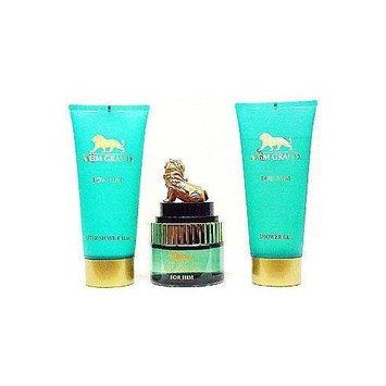 Mgm Grand By Vapro For Men. Gift Set ( Eau De Toilette Spray 3.4 Oz & Aftershave Balm 6.8 Oz & Shower Gel 6.8 Oz ).